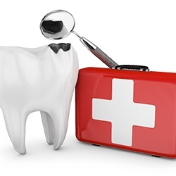 tooth icon and emergency dental kit