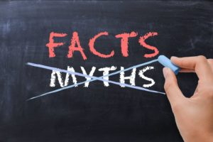 myth facts chalkboard